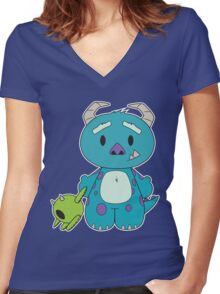 Hello Monster Women's Fitted V-Neck T-Shirt