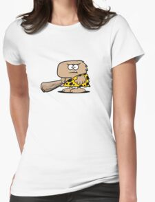 Caveman Womens Fitted T-Shirt