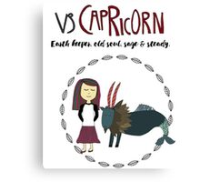 Children's Zodiac - Capricorn Girl Canvas Print