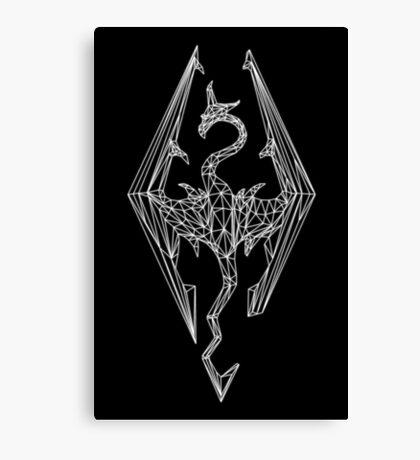 80's Cyber Imperial Elder Scrolls Logo Canvas Print
