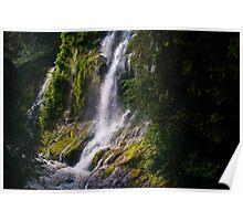 Boulder River Falls Detail – Boulder River Wilderness, Washington Poster
