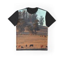 Grazing Cows in the Glow of a Sunset Graphic T-Shirt