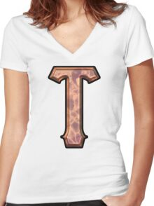 SFGiant-T Women's Fitted V-Neck T-Shirt
