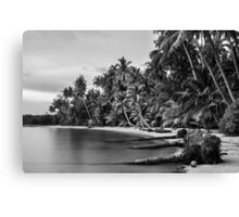 Beautiful tropical beach in Thailand with long exposure effect Canvas Print