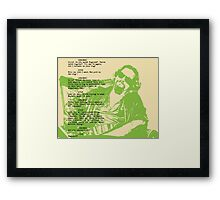 his dudeness Framed Print