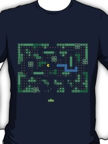 Blockade of the Pac-Man Invaders in the Tetris Dimension! T-Shirt