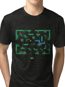 Blockade of the Pac-Man Invaders in the Tetris Dimension! Tri-blend T-Shirt