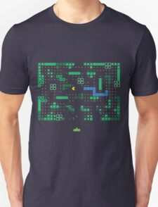 Blockade of the Pac-Man Invaders in the Tetris Dimension! Unisex T-Shirt