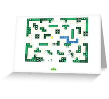 Blockade of the Pac-Man Invaders in the Tetris Dimension! Greeting Card
