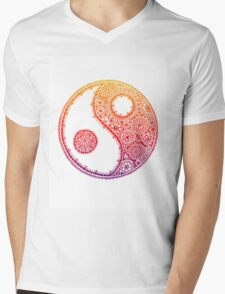 Yin and Yang - Rainbow Mens V-Neck T-Shirt