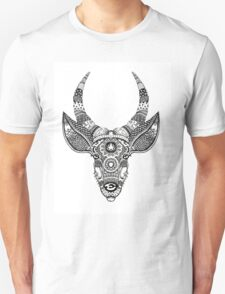 Deer with Horns - Rainbow Unisex T-Shirt