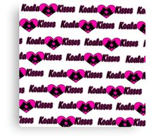 Koala Kisses #2 Pattern  Canvas Print