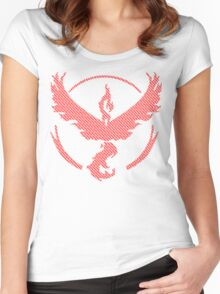 Team Valor Word Pattern Women's Fitted Scoop T-Shirt