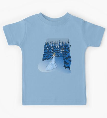 The Blue Box in the Snow Kids Tee