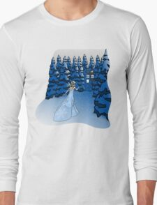 The Blue Box in the Snow Long Sleeve T-Shirt