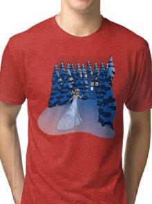 The Blue Box in the Snow Tri-blend T-Shirt