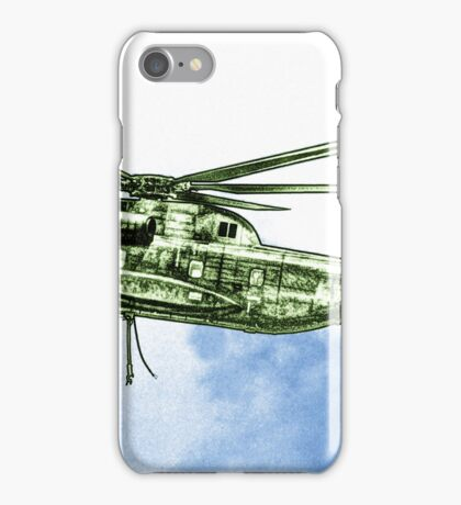 CH-53G Flying with Powerful Force iPhone Case/Skin