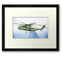 CH-53G Flying with Powerful Force Framed Print
