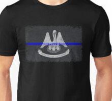 Louisiana Thin Blue Line State Flag Unisex T-Shirt