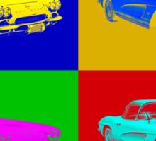 1962 Chevrolet Corvette Convertible Pop Art Sticker