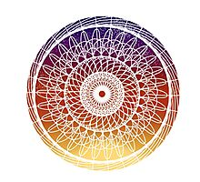 Sunset Mandala Photographic Print