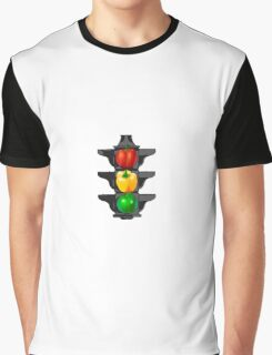 Bell Pepper Stop Light (Red, Green, Yellow) Graphic T-Shirt