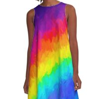 Rainbow in the Dark A-Line Dress