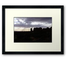 Silhouette of the Stone Elephant Framed Print