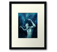 Oceans so deep, he will drown in his sleep Framed Print