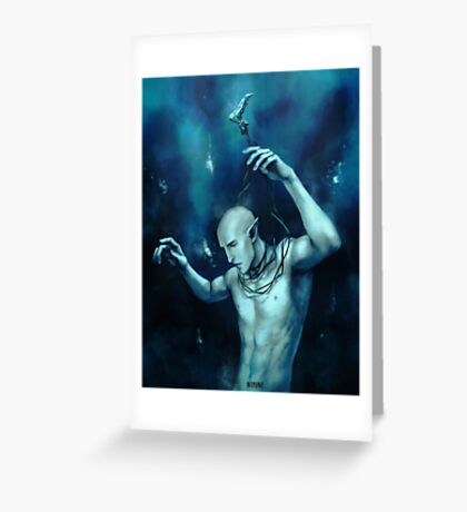 Oceans so deep, he will drown in his sleep Greeting Card
