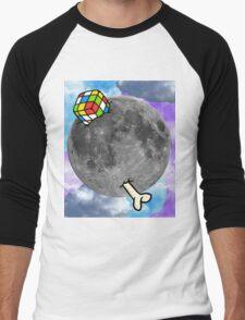 Moon with Details Men's Baseball ¾ T-Shirt