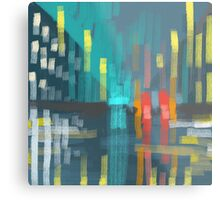 rain and city lights Metal Print
