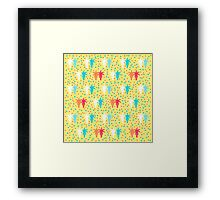 Palm tree couples with colorful dots Framed Print