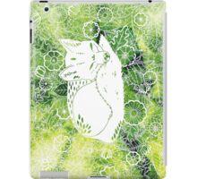 Zen Fox Green with Flower Pattern iPad Case/Skin