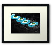Colourful Umbrellas Framed Print