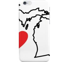 I Love Michigan	 iPhone Case/Skin