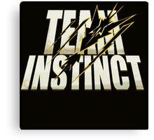 Pokemon Go #TeamInstinct Instincts Del Mal (Perros Del Mal inspired) Canvas Print
