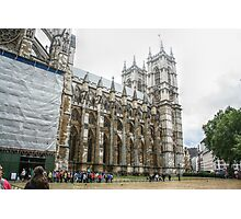 Right Side of the Entrance into Westminster Abbey Photographic Print