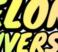 Elon University Pastel Rainbow Bubble Letters Sticker