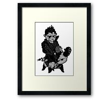 Bad and Furious Framed Print