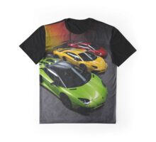Lamborghini Aventador SV Roadster Traffic Lights Graphic T-Shirt