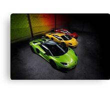 Lamborghini Aventador SV Roadster Traffic Lights Canvas Print