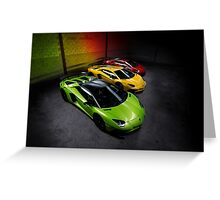 Lamborghini Aventador SV Roadster Traffic Lights Greeting Card