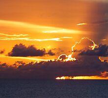 Caribbean Sunset by Rosemary Sobiera