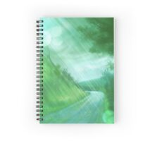 rainy meadow- day Spiral Notebook