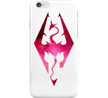 Skyrim Logo - Pink iPhone Case/Skin