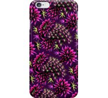 Cactus Floral - Purple/Black/Green iPhone Case/Skin