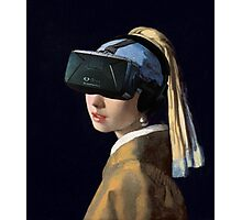 Girl With The Oculus Rift Photographic Print