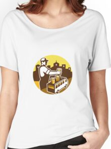 Bartender Beer City Van Circle Retro Women's Relaxed Fit T-Shirt