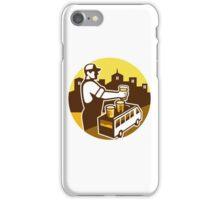 Bartender Beer City Van Circle Retro iPhone Case/Skin